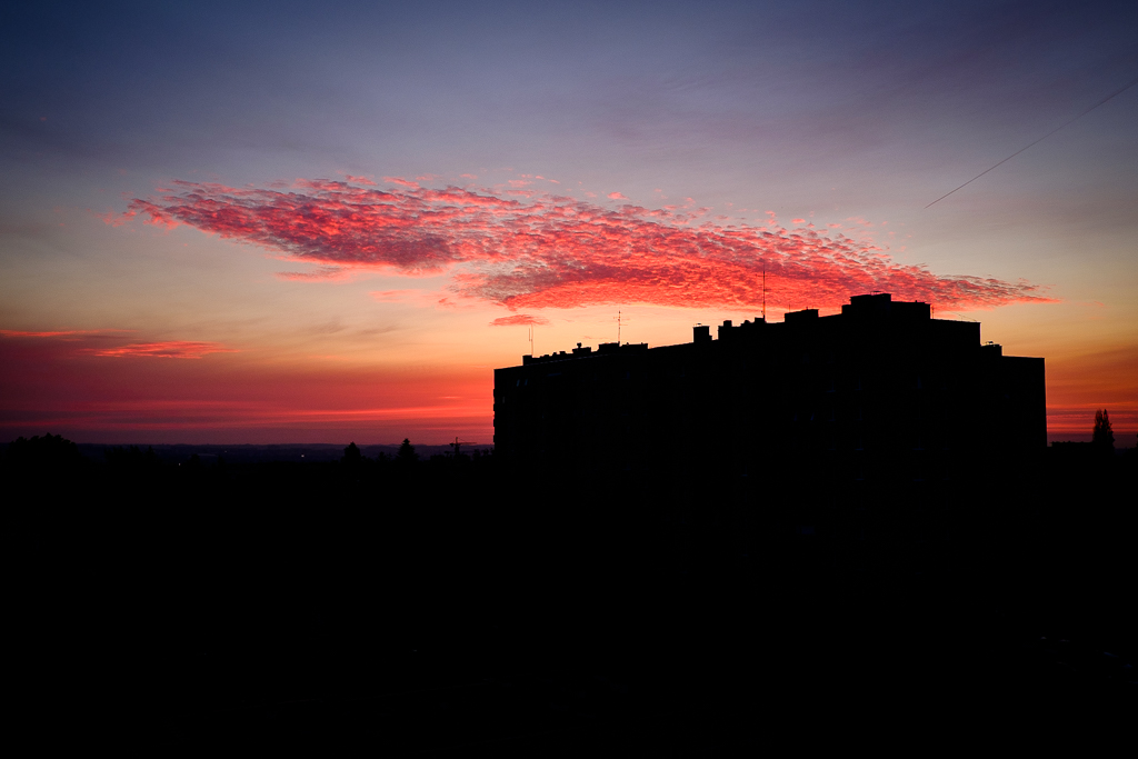 wschód słońca nad Wolą Duchacką